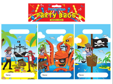 12 Pirate Empty Party Bags - Party Perfecto