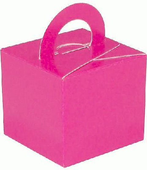 10 Hot Pink Balloon Boxes - Party Perfecto