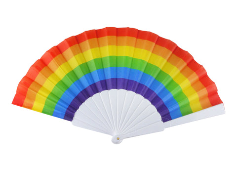 Pride Rainbow Folding Fan