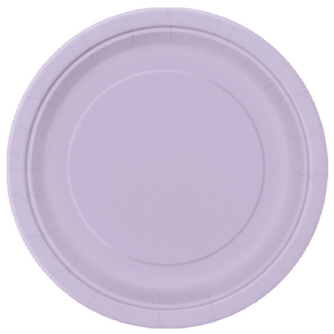 "20 Lavender Round 7"" Paper Plates"