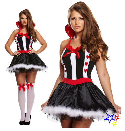 Sexy Queen Of Hearts Fancy Dress Costume