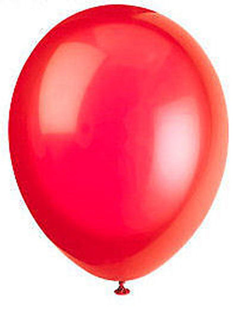 50 Scarlet Red Latex Balloons