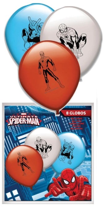 8 Spiderman Balloons