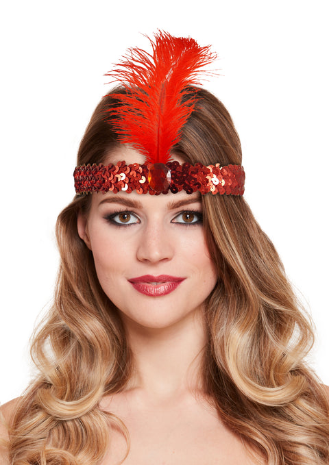 Red Charleston Headband