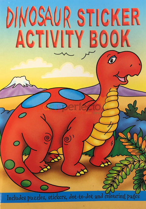 6 Dinosaur Sticker Activity Books