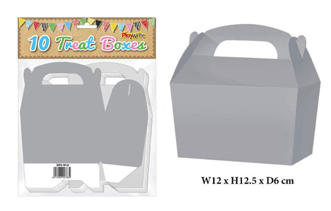 10 Silver Treat Boxes - Party Perfecto