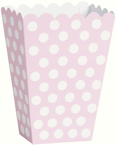 8 Lovely Pink Polka Dot Treat Boxes