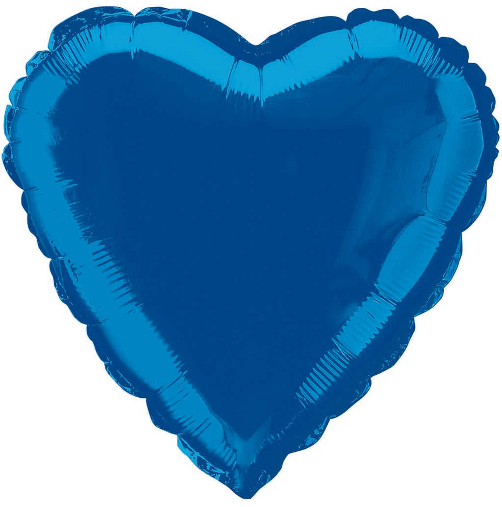 Royal Blue Foil Heart Balloon