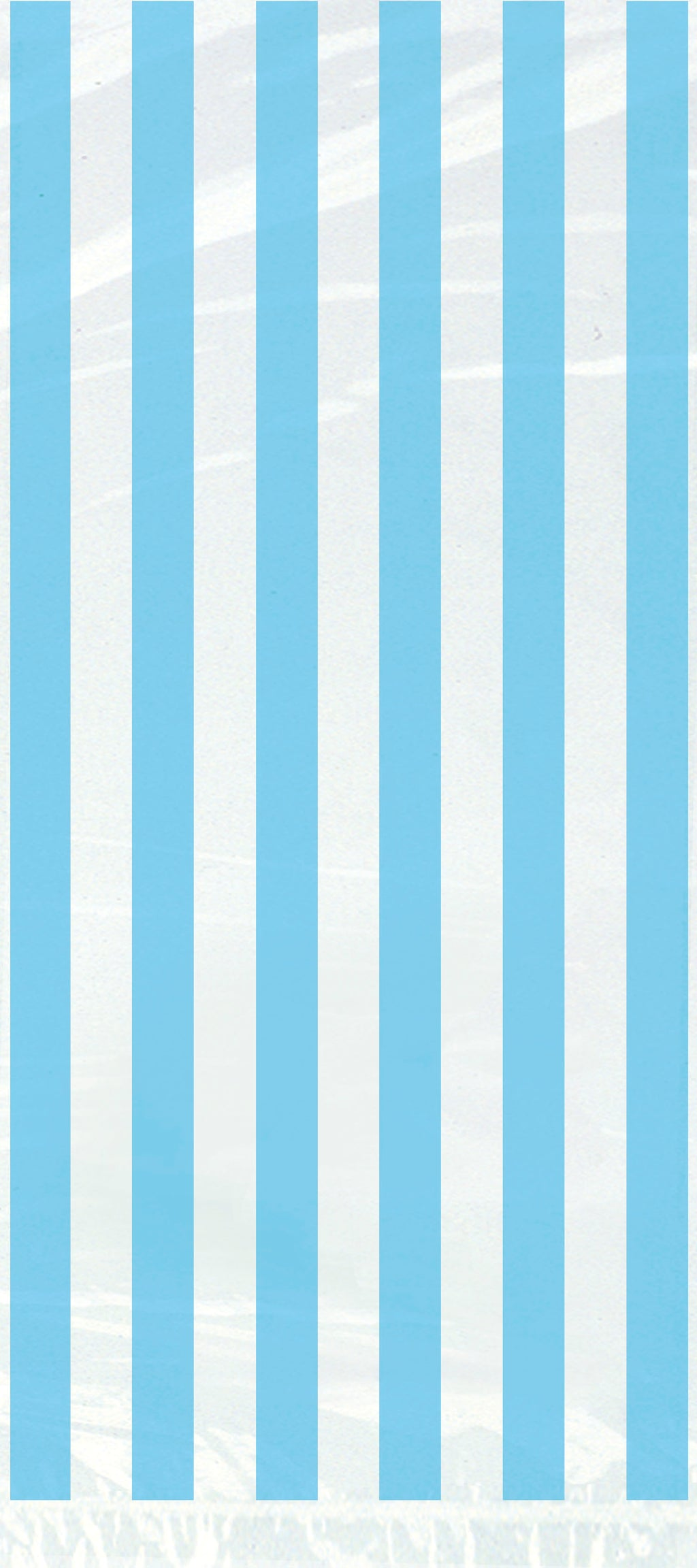 20 Powder Blue Striped Cellophane Bags