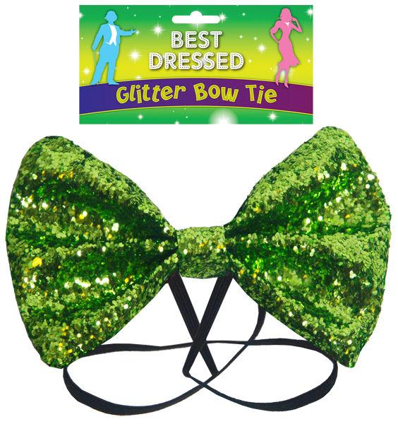 Green Glitter Bow Tie - Party Perfecto