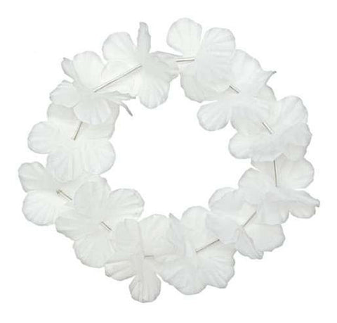 White Hawaiian Flower Headband