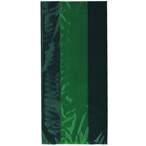 30 Forest Green Cellophane Gift Bags