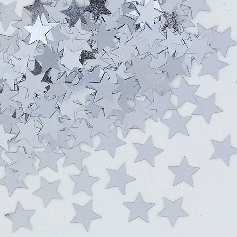 Silver Star Confetti - Party Perfecto