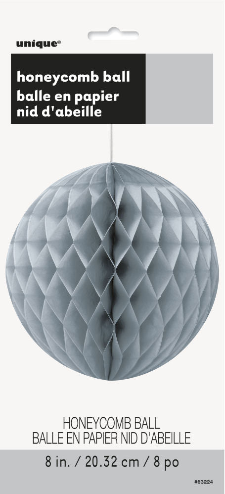Silver Honeycomb Ball Decoration