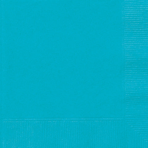 20 Caribbean Teal Luncheon Napkins