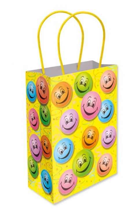 6 Smiley Paper Handle Bags