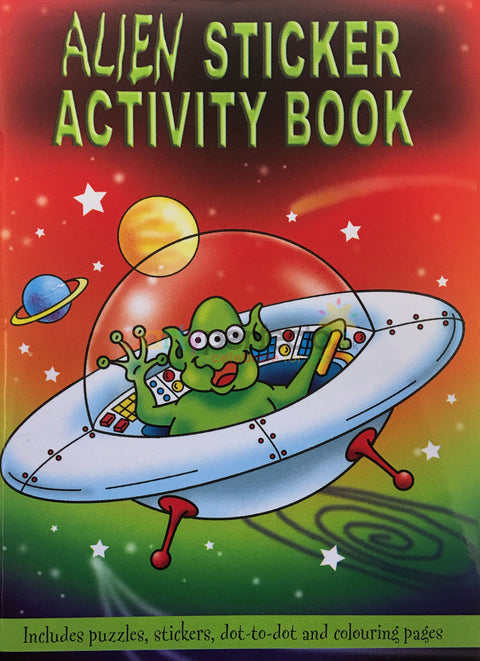 6 Alien Sticker Activity Books