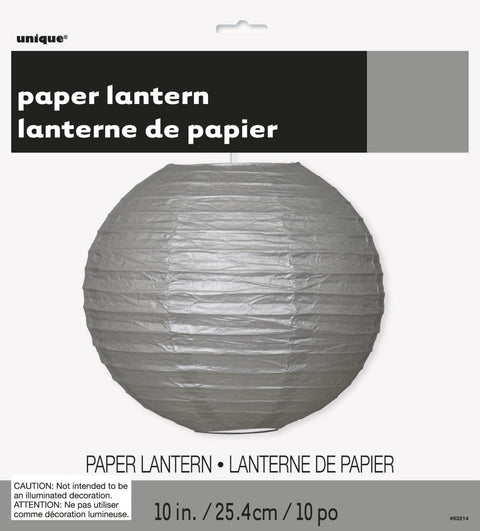Silver Paper Lantern Decoration
