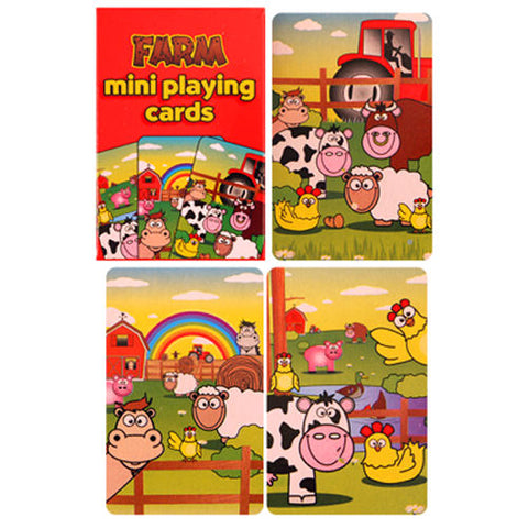 6 Farm Miniature Playing Card Sets