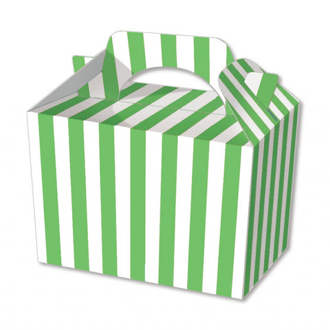10 Green Stripe Boxes - Party Perfecto