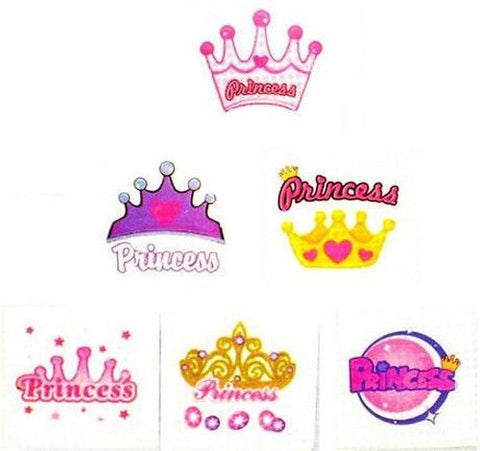 6 Princess Temporary Tattoos