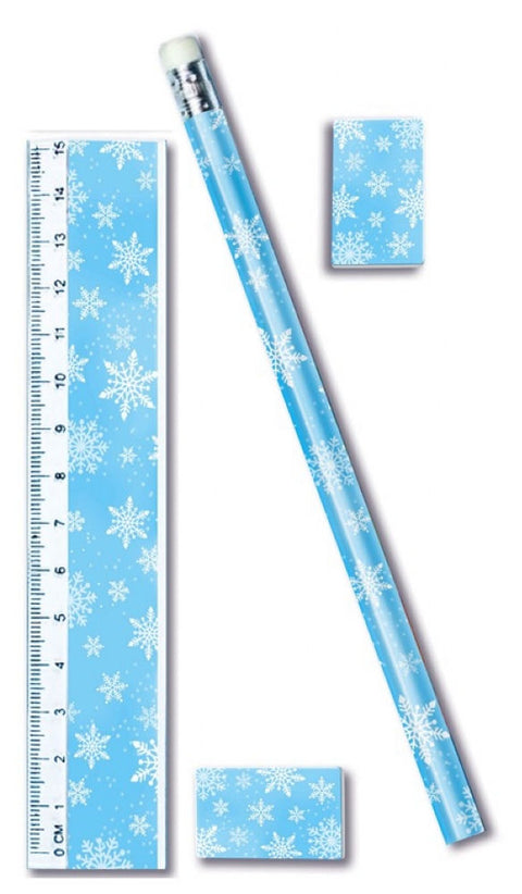 6 Snowflake Stationery Sets