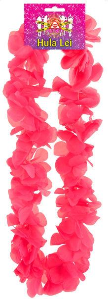 Hot Pink Flower Lei - 100cm Hen Party - Party Perfecto