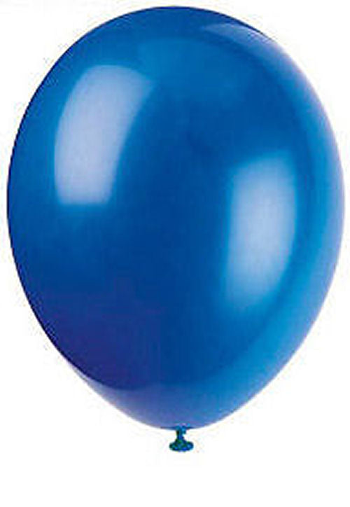 50 Evening Blue Latex Balloons