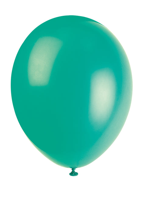 10 Fern Green Latex Balloons - Party Perfecto