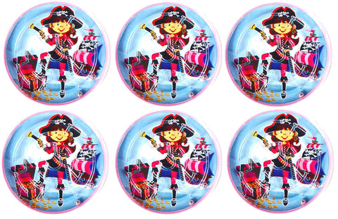6 Pink Pirate Maze Puzzles