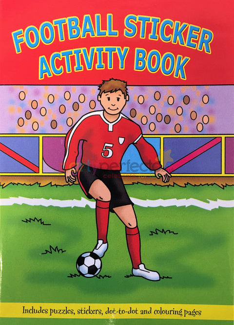 6 Football Sticker Activity Books