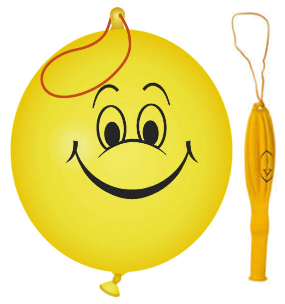 6 Smiley Punch Balloons