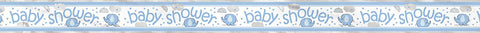 Blue Baby Shower 12ft Foil Banner
