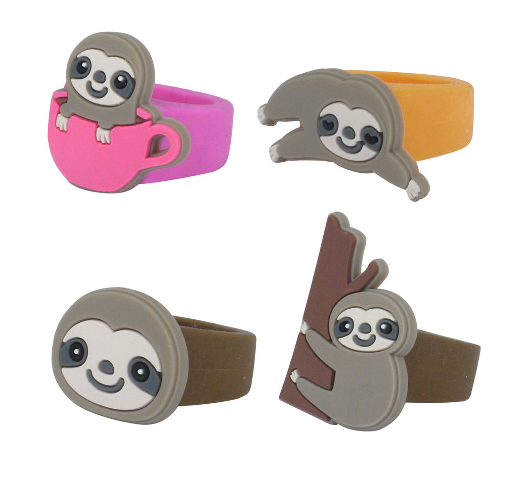 6 Sloth Rubber Rings