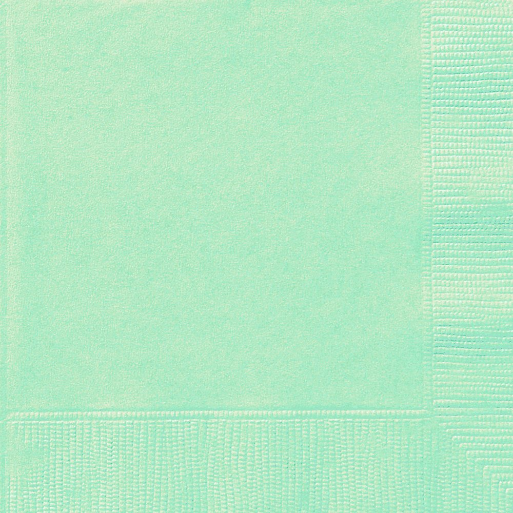 20 Mint Green Luncheon Napkins