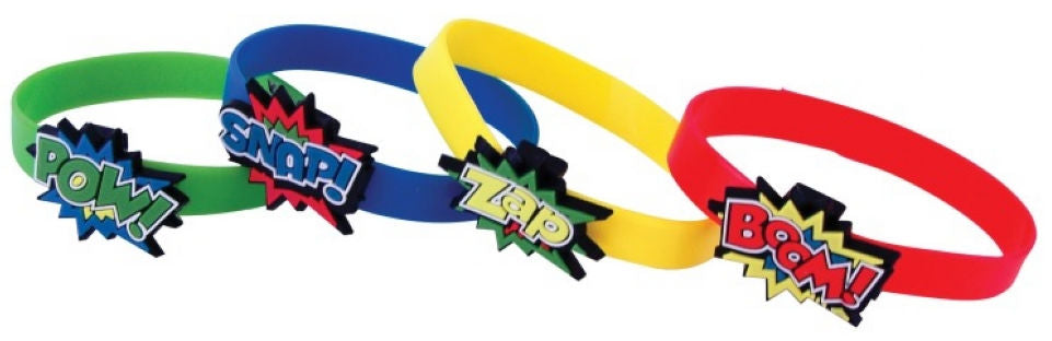 12 Super Hero Bracelets - Party Perfecto