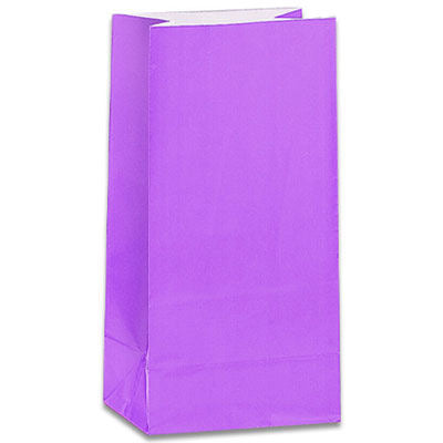 12 Lavender Paper Gift Bags - Party Perfecto