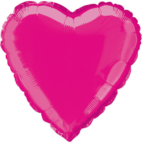 Hot Pink Foil Heart Balloon