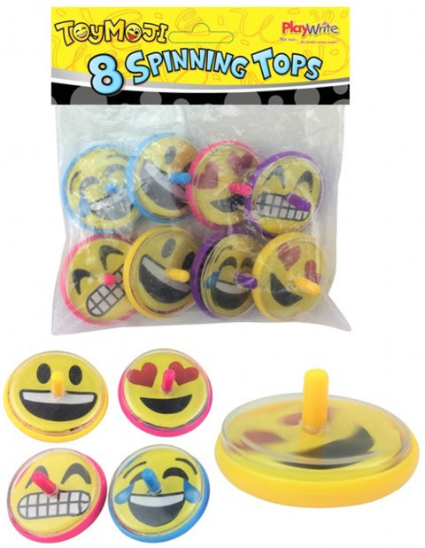 8 Emoji Spinning Tops