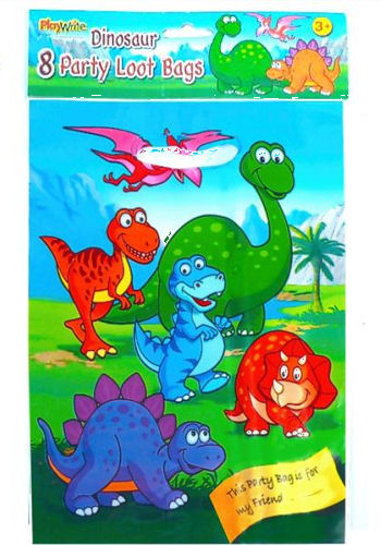 8 Dinosaur Empty Party Bags