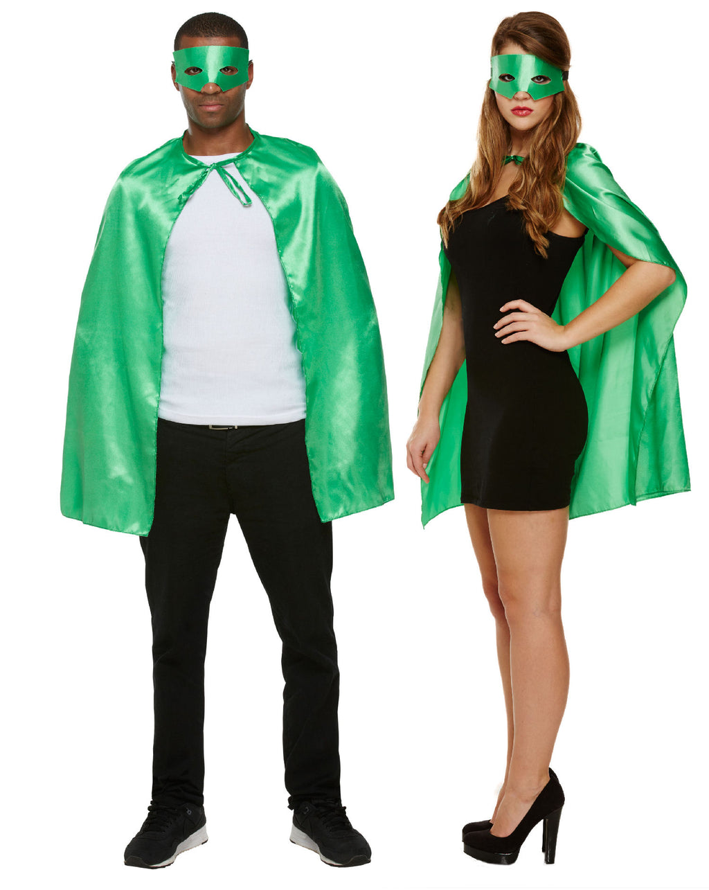 Adult Super Hero Cape Set - Green