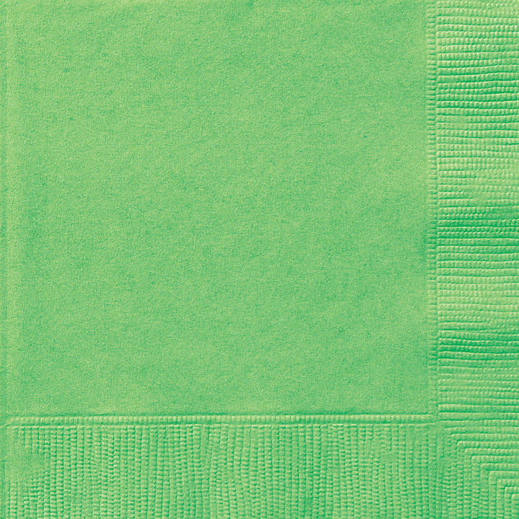 20 Lime Green Luncheon Napkins