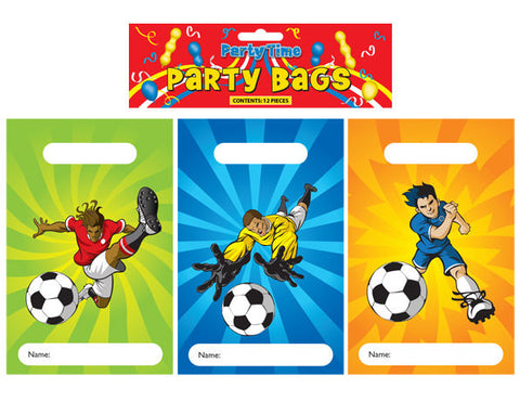 12 Football Empty Party Bags