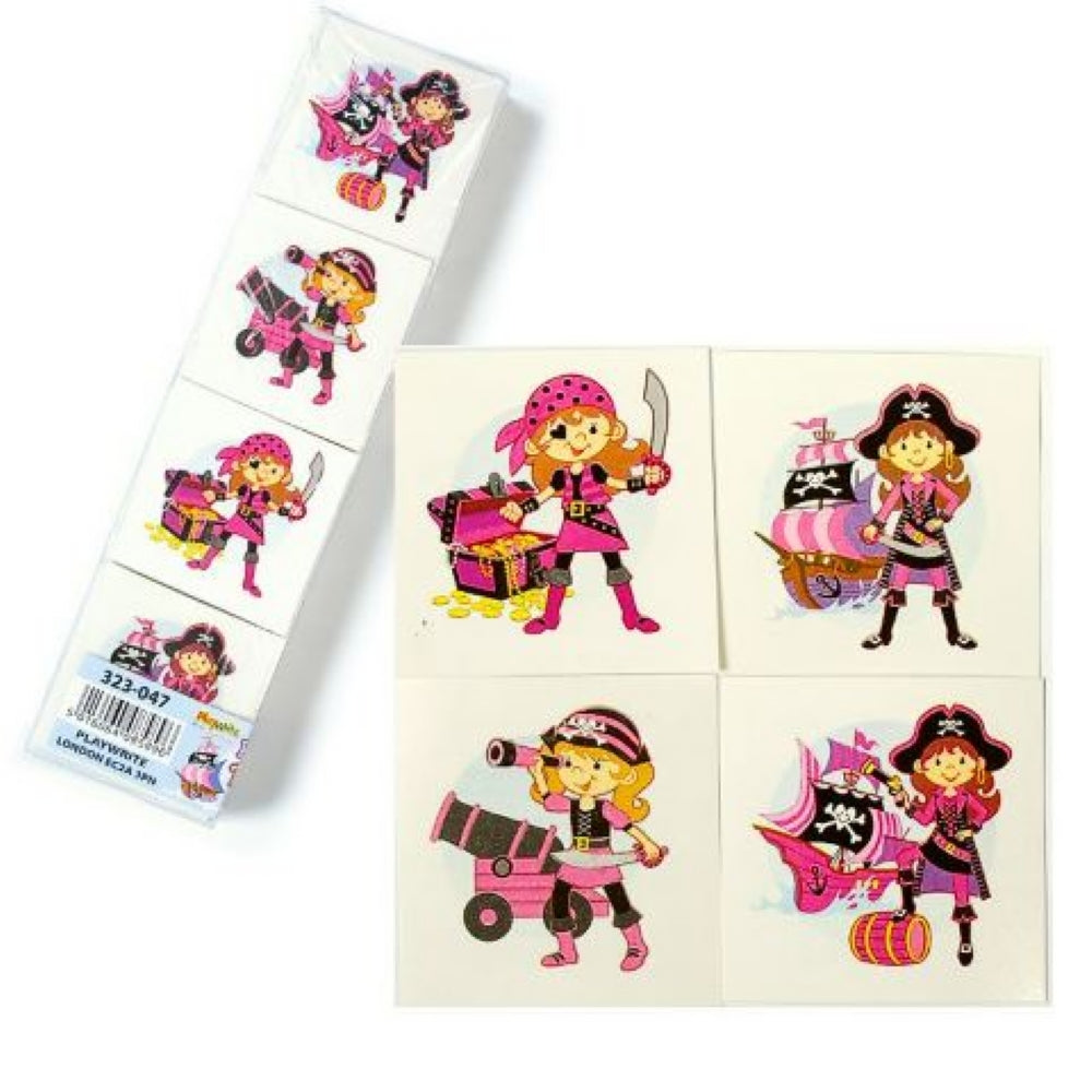 288 Pink Pirate Temporary Tattoos