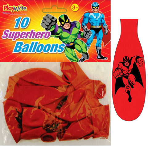 10 Super Hero Balloons