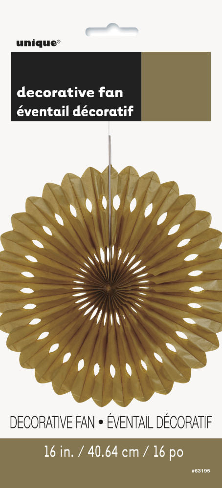 Gold Paper Fan Decoration