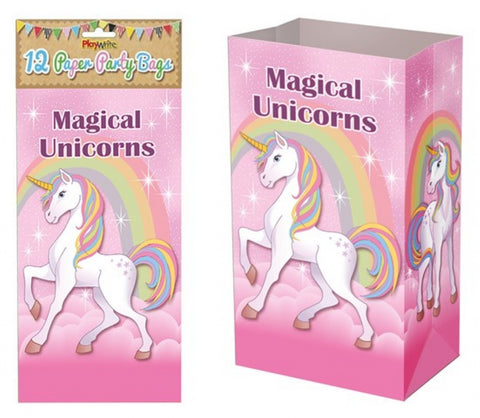 12 Unicorn Paper Bags - Party Perfecto