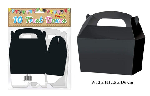 10 Black Treat Boxes - Party Perfecto