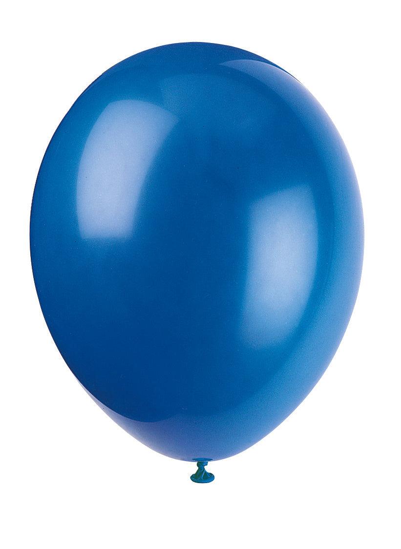 10 Evening Blue Latex Balloons - Party Perfecto