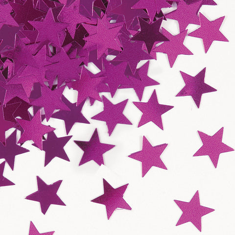 Hot Pink Star Confetti
